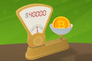 Цена биткоина превысила 40 тысяч долларов