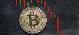 Bitcoin продолжает показывать резкий спад